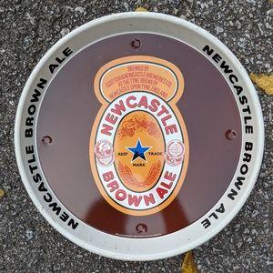 """VTG NEWCASTLE Metal 12"""" Beer Tray"""